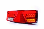 Baklampa höger trailer LED, 5 funktioner 12/24V