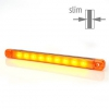 Sidomarkering Orange slim 9 LED 9-36V IP68. E-märkt
