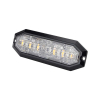 Blixtljus Strands 6 LED, 12-24V DC, 20W Orange LED klar lins