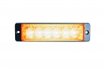 Blixtljus Orange Slim 12-24V 6LEDx3W IP68